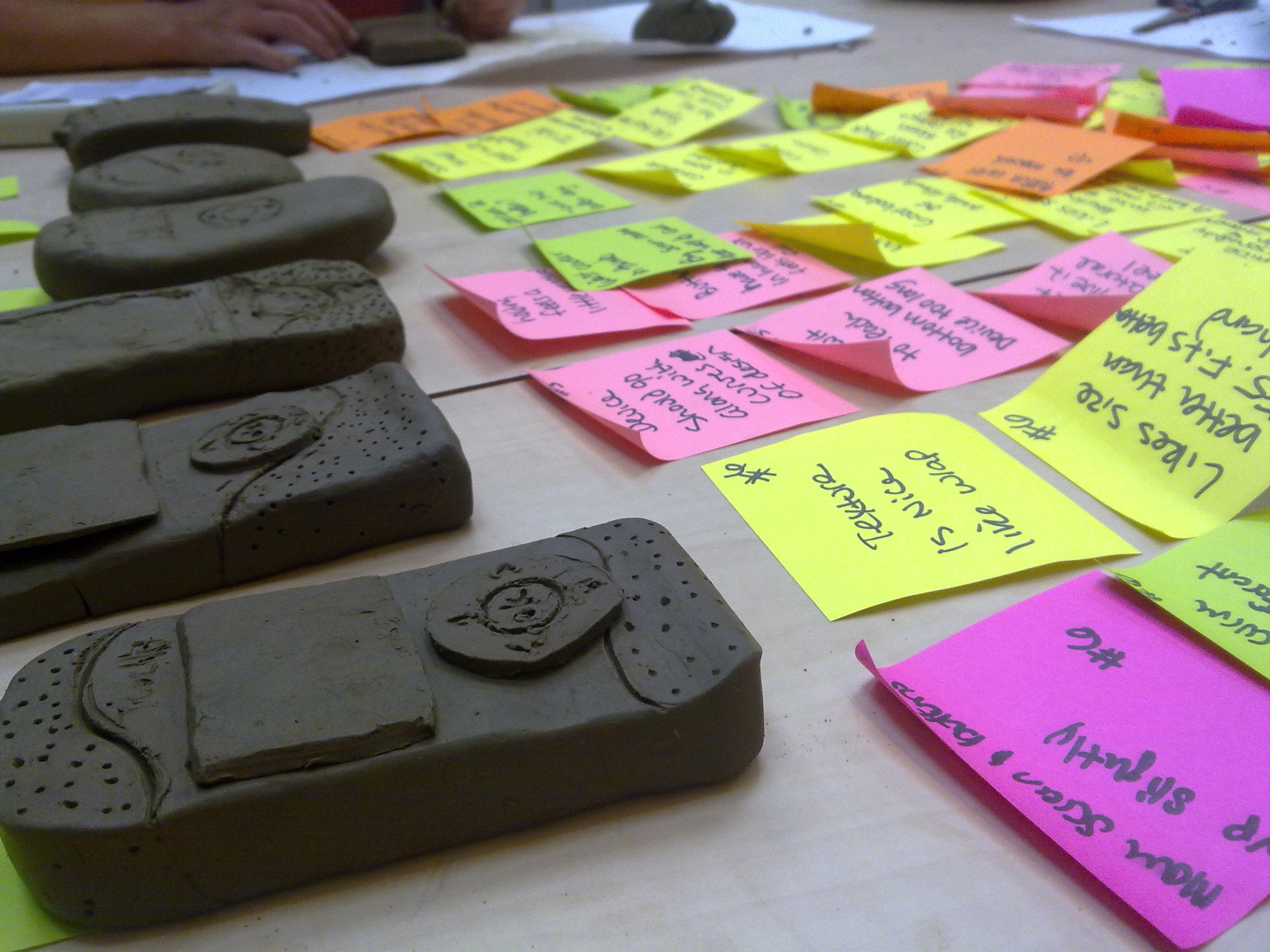 Clay models to test ergonomics